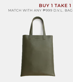 D. V. L. Portrait Tote Bag (Army Green)