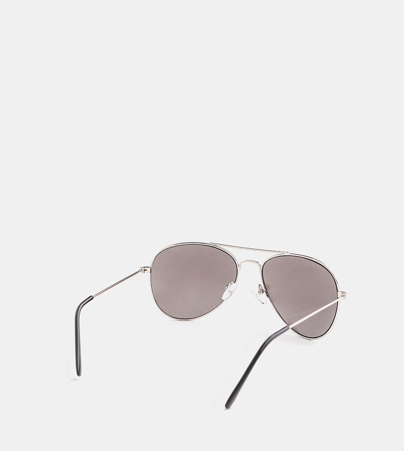 The Skye Sunglasses (Silver Frames w/ Silver Mirror) - Back