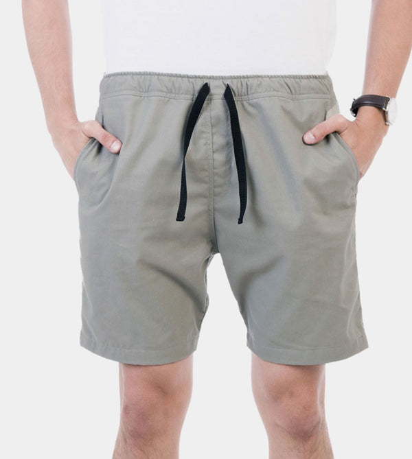 Tailored Shorts (Silver Sky) - Front