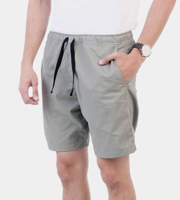 Tailored Shorts (Silver Sky) - Diagonal