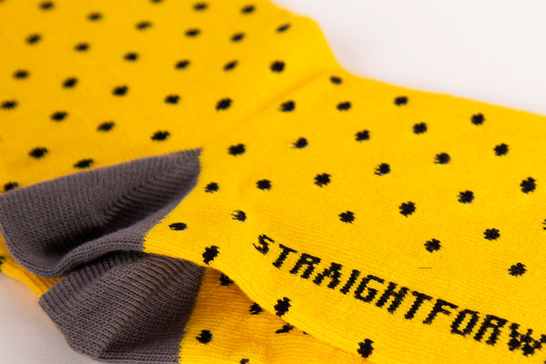 LiteWear Crew Socks (Polka Yellow)
