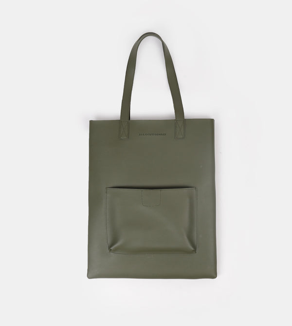 D. V. L. Tote with Patch Pocket (Army Green)