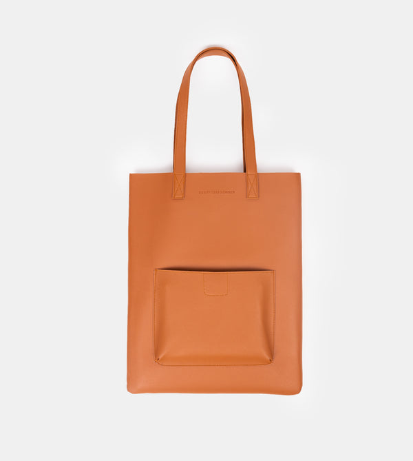 D. V. L. Tote with Patch Pocket (Tan)