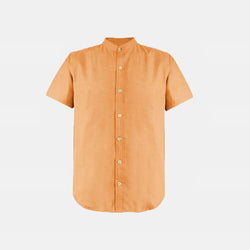 Japanese Chambray Mandarin Collar (Orange)