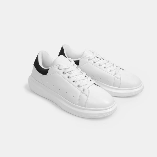 Men's Superlight White Sneakers (Black)