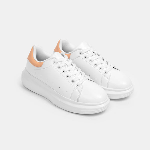 Women's Superlight White Sneakers (Melon)