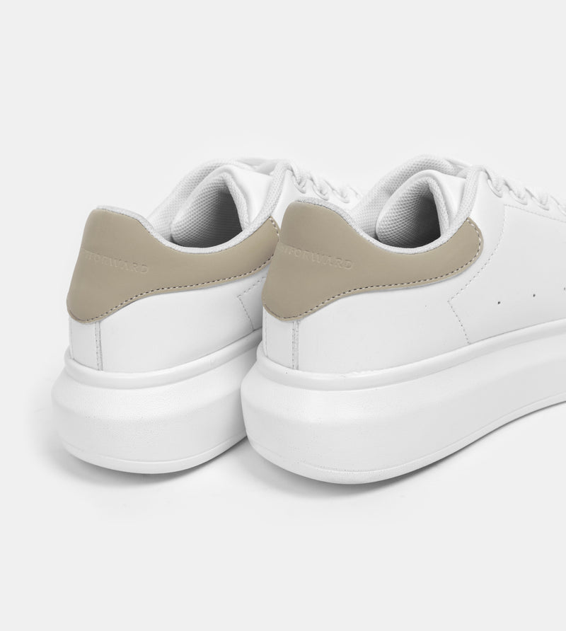 Women's Superlight White Sneakers (Taupe)