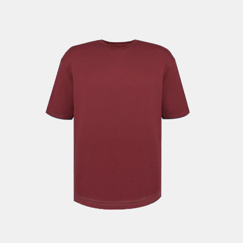 Weighted Blend Oversized Tee (Maroon)