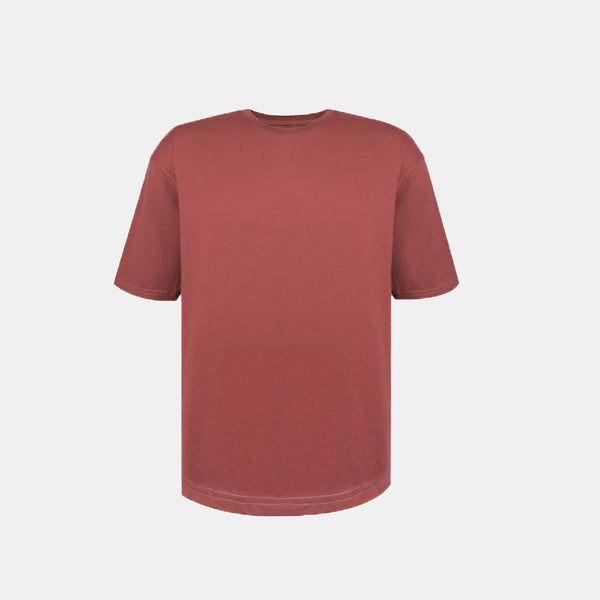 Weighted Blend Oversized Tee (Old Rose)