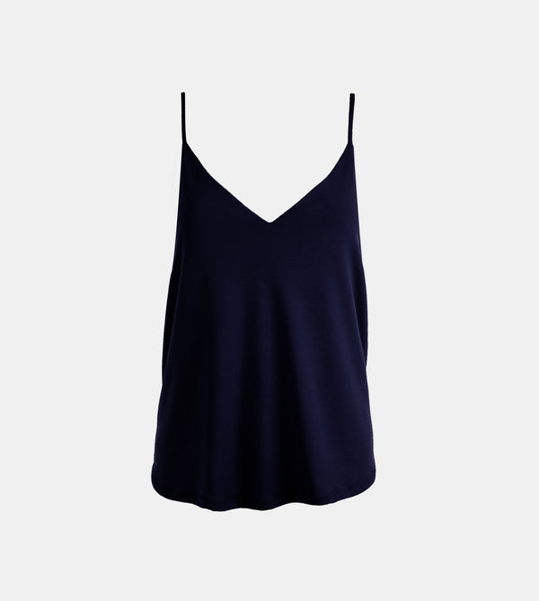 Summer Cotton Easy Camisole (Navy Blue)