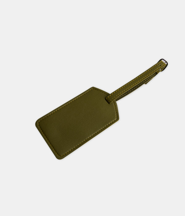Daily Vegan Leather Luggage Tag (Army Green)
