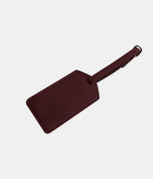 Daily Vegan Leather Luggage Tag (Wine)