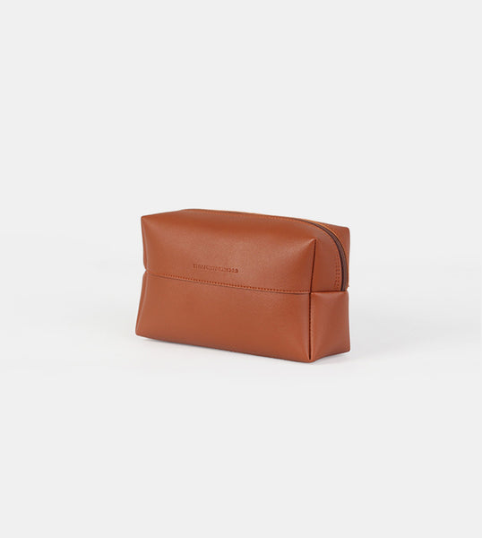 Leather Pouch (Tan) - Diagonal