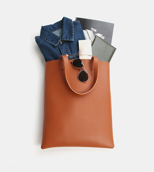 Tote Bag (Tan) - Flatlay