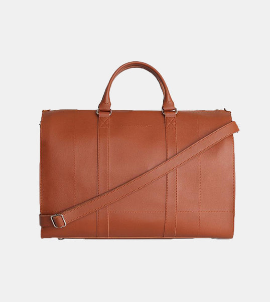 Leather Duffel Bag (Tan) - Front