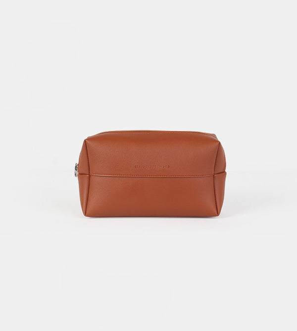 Leather Pouch (Tan) - Front