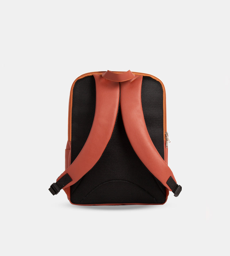 The Daily Vegan Leather Minimalist Backpack (Tan)