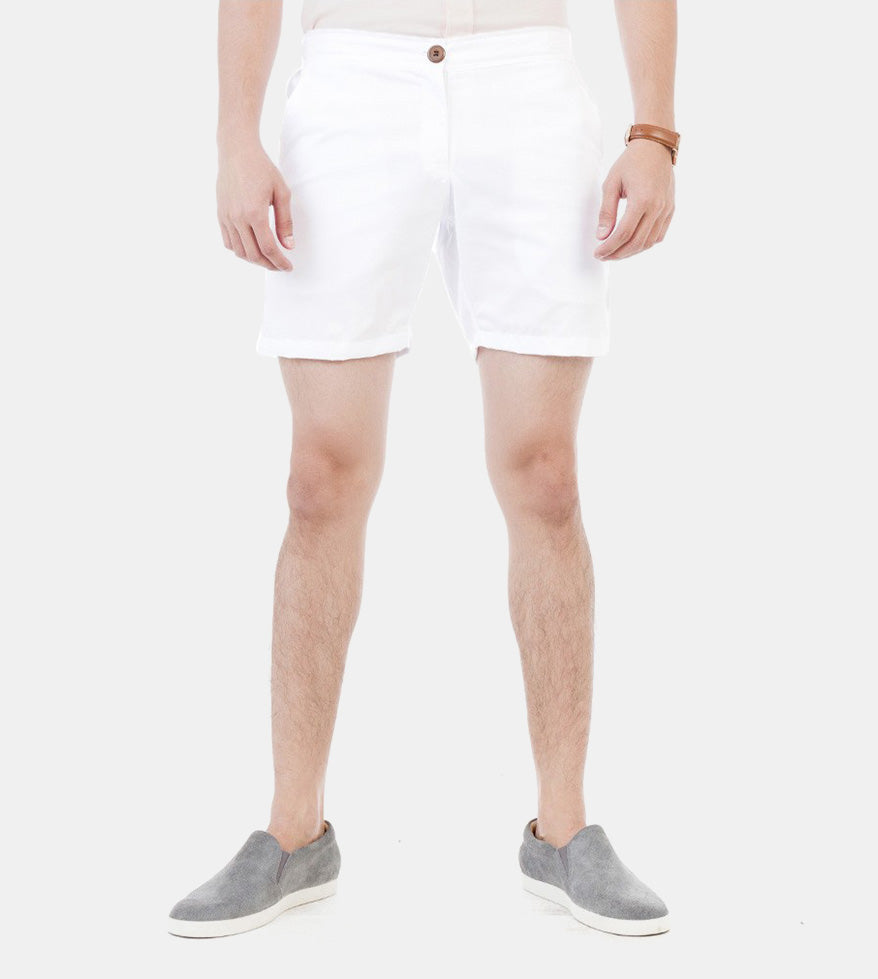 Summer Shorts (White) - Front