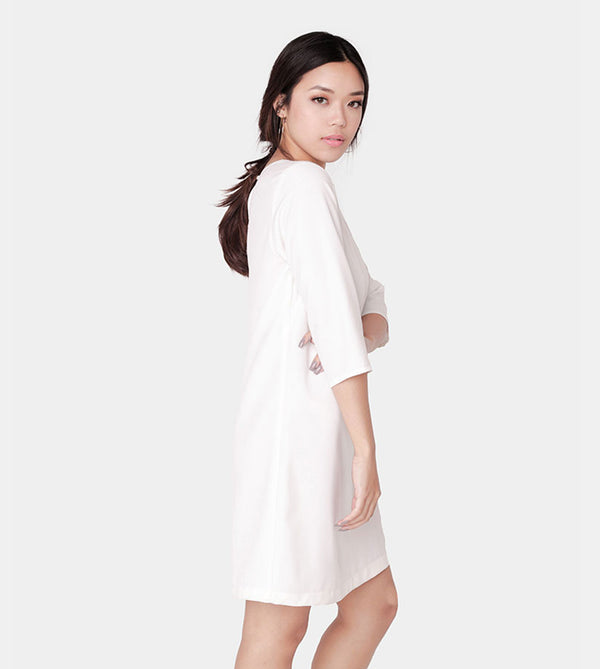 The Serenity Dress (White) - Diagonal