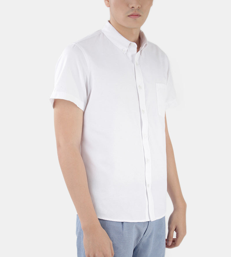 Work & Play Button Down (White) - Diagonal