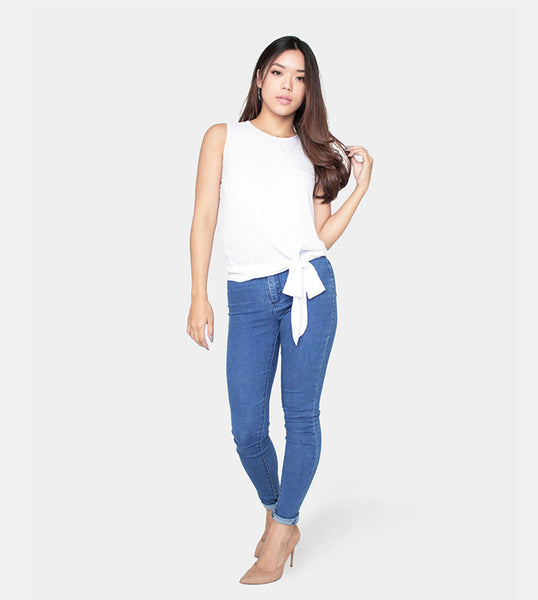 The Slow Down Sleeveless (White) - Style
