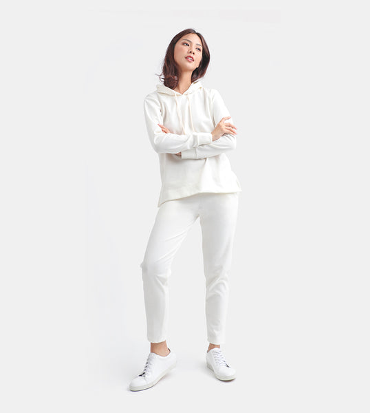 The Cotton Drawstring Pants (White)