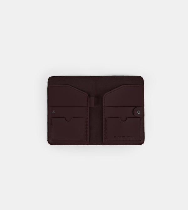 Daily Vegan Leather Passport Holder (Wine)