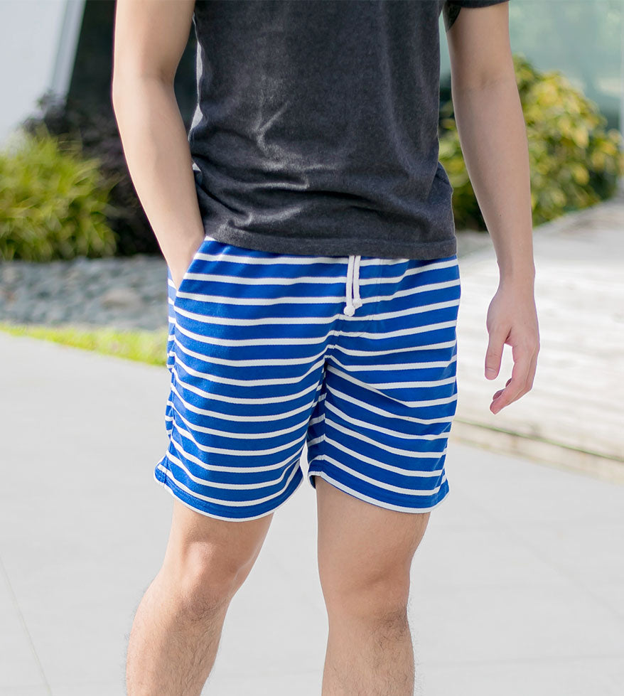Soft, Stretchy, and Striped Shorts (Dark Gray)
