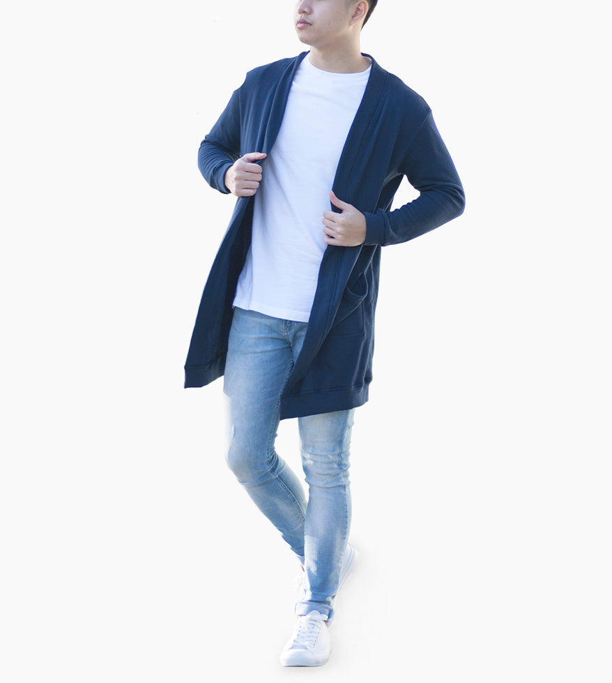 Fleece Cardigan (Gray)