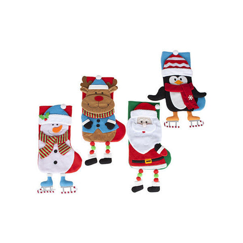 CUTE CUDDLY CHRISTMAS CHARACTERSTOCKING RUDOLPH FATHER CHRISTMAS SNOWMAN PENGUIN