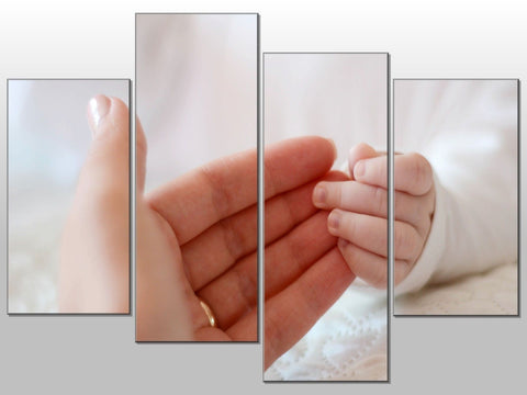HANDS MUM BABY CHILD LOVE INFANT LARGE SPLIT PANEL CANVAS WALL ART IMAGE PICTURE