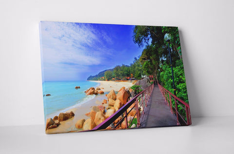 BEACH SEA SAND SHORE TRANQUILITY CANVAS WALL ART PICTURE WALL HANGING IMAGE
