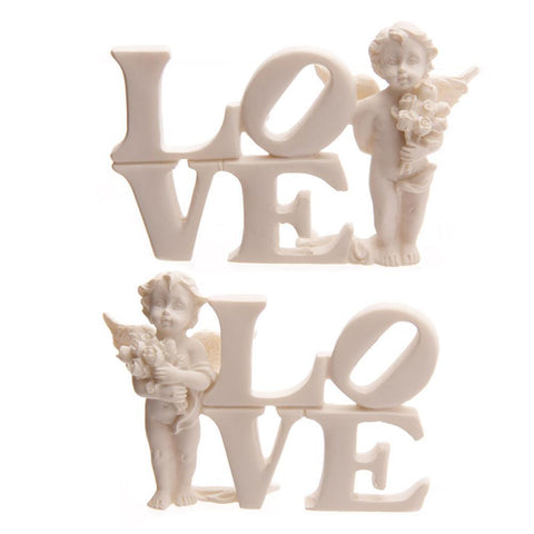 CHERUB ORNAMENT CHERUB STACKED LOVE ANGEL WINGS BOWL CHERUB SLEEPING IN HAND