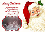 PERSONALISED LAMINATED PREGNANCY ANNOUNCEMENT FATHER CHRISTMAS SURPRISE BABY