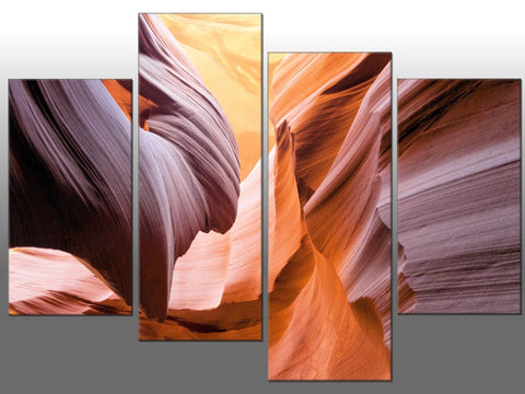 ANTELOPE CANYON LARGE SPLIT PANEL 4 PANEL CANVAS WALL ART IMAGE GRAND CIRCLE