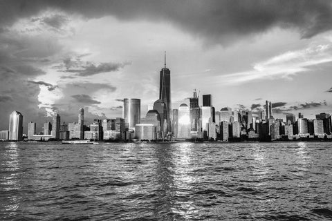 NEW YORK MANHATTAN BLACK & WHITE CANVAS WALL ART PICTURE IMAGE WALL HANGING