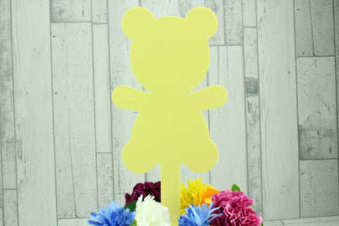 Acrylic Teddy Bear Memorial Stake Grave Memorial Long Lasting