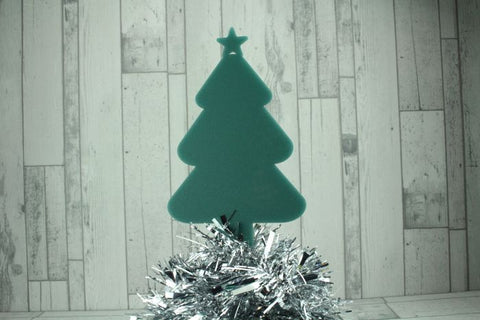 Acrylic Christmas Tree Memorial Stake Grave Memorial Long Lasting