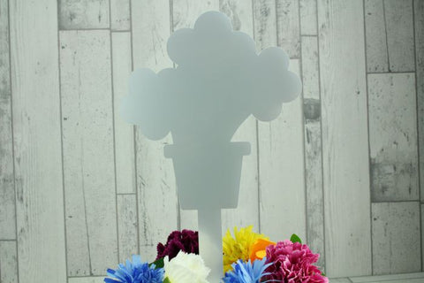 Acrylic Flower Pot Memorial Stake Grave Memorial Long Lasting