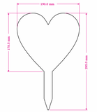 Acrylic Heart Memorial Stake Grave Memorial Long Lasting