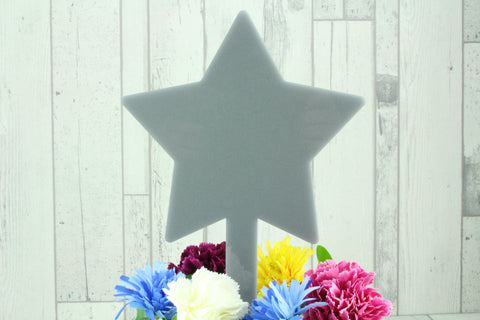 Acrylic Star Memorial Stake Grave Memorial Long Lasting