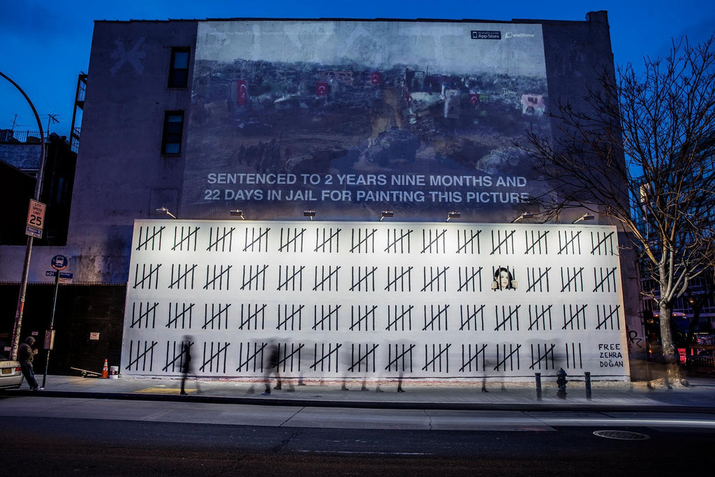 New Banksy Mural in New York Protests Turkish Artist's Imprisonment