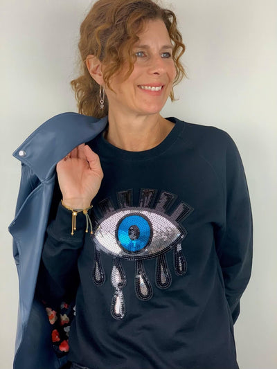 Embellished EYE Sweatshirt