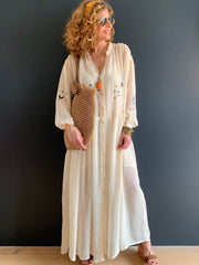 Me369 Piper Maxi Dress in Natural - Taylor Bell