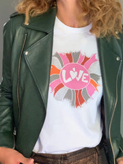 LOVE T-Shirt In White - Taylor Bell