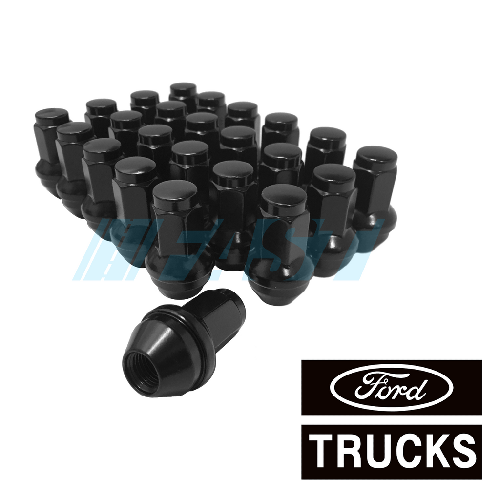 Buyer Needs to Review The spec 20pcs 1.87 Black 1//2-20 UNF Wheel Lug Nuts fit 1992 Ford Ranger May Fit OEM Rims