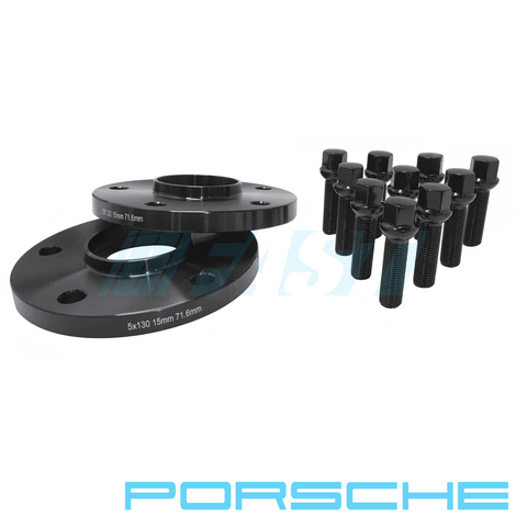 Hub Centric Spacers | Porsche | 2 Piece Kits with Bolts