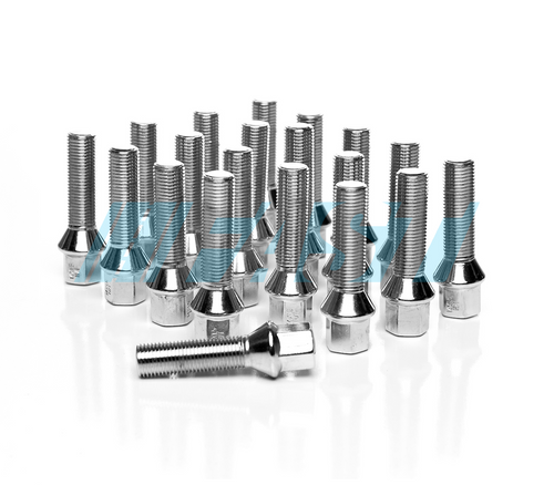 Lug Bolts | Conical Seat 17mm Hex | 20 Piece Set | Chrome
