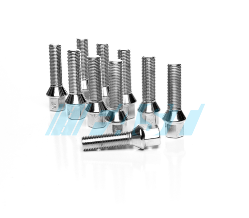 Lug Bolts | Conical Seat 17mm Hex | 10 Piece Set | Chrome