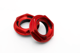 Rotiform Hex Nut - Candy Red - Rotiform Wheels